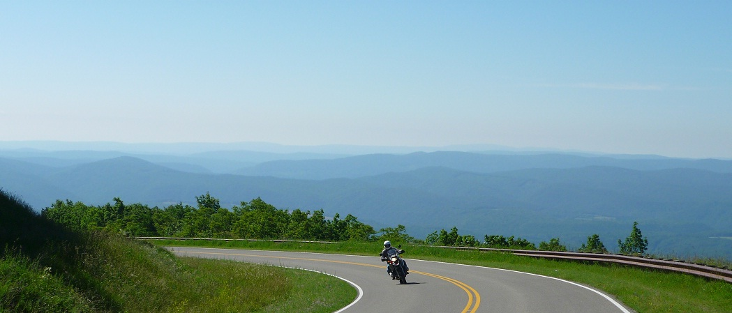 Motorcycle riding in west virginia on Highland Scenic Highway