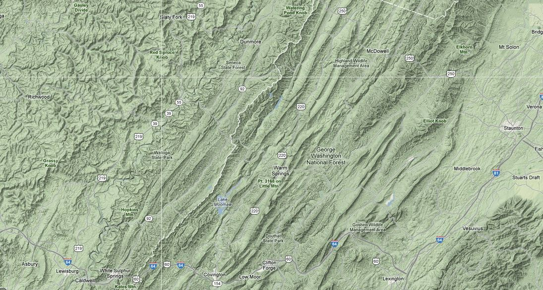 west virginia motorcycle route terrain