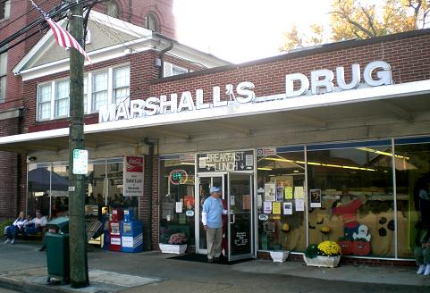 Marshall's drug store and lunch counter, Urbanna, Virginia