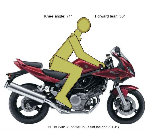 suzuki sv650s seat height for short adult