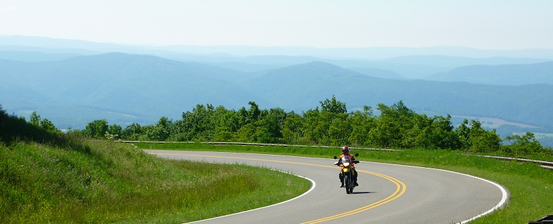 west virginia motorcycle rides on BMW F650GS